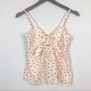 MADEWELL Strawberry Cami Tank Front Tie 00